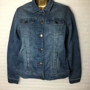 Buffalo David Bitton knit denim jacket size S/P